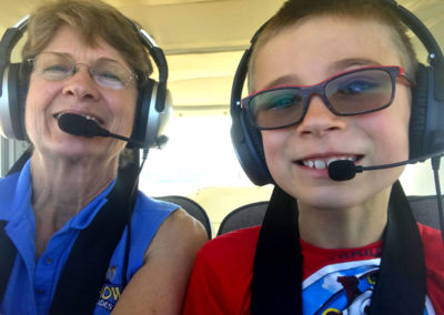 All ages welcome! Learn to fly at Jeanne's Flying Service, Independence, Oregon - FlyJeanne.com